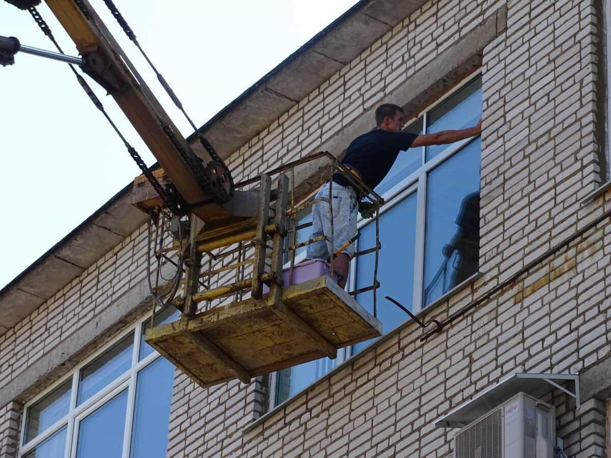 Мойка окон пенсионного фонда города Кириши